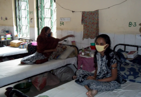 A woman in the MRD-TB Ward at the Chest Hospital in Dhaka