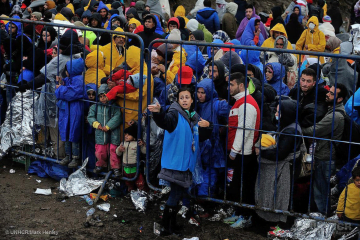 refugees in Serbia/Croatia
