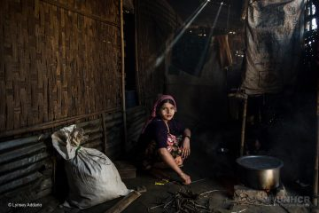 A*, 18, cooks in her family home in Say Tha Mar Gyi Camp.  She is married, but her husband left her within the last year to return to his family.* Name withheld for protection.  Lynsey Addario