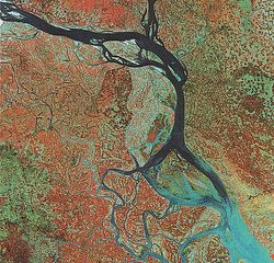 Satellite View of Ganges