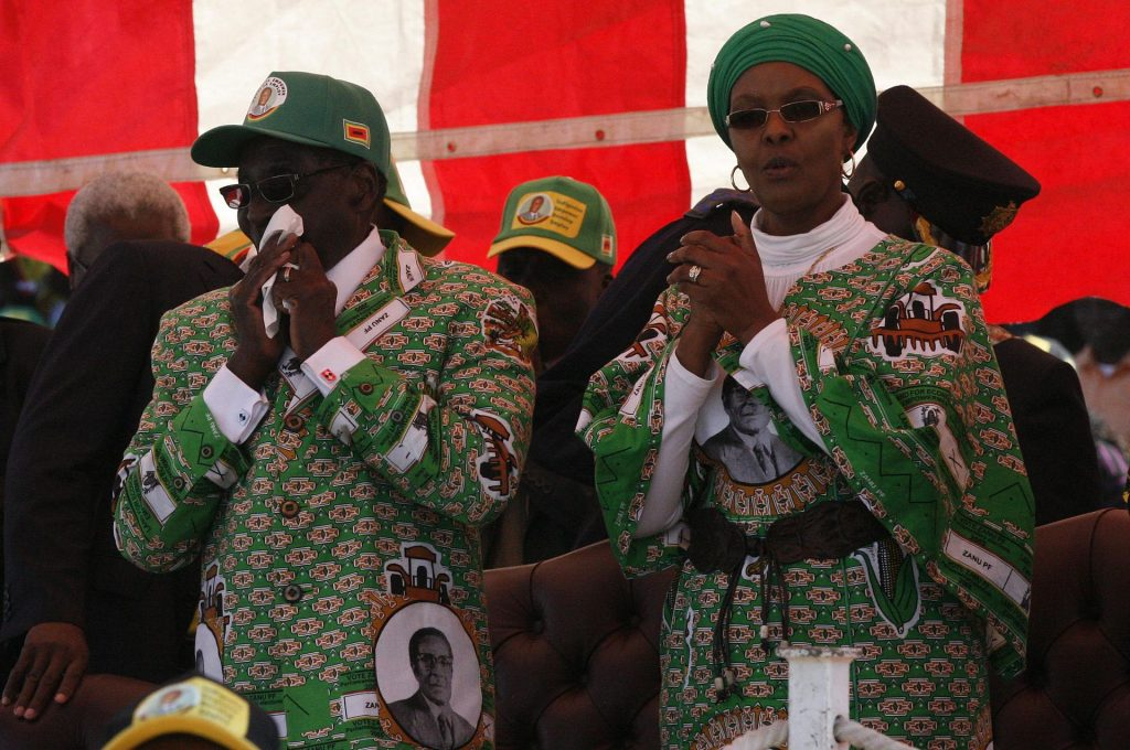 Grace and Robert Mugabe, via Wikimedia Commons